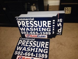 Really fast yard signs with good design.