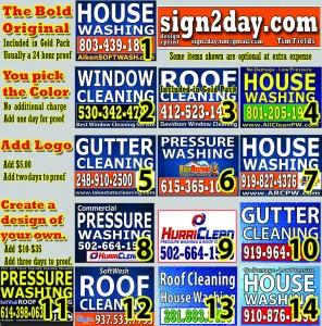 Contractor yard signs