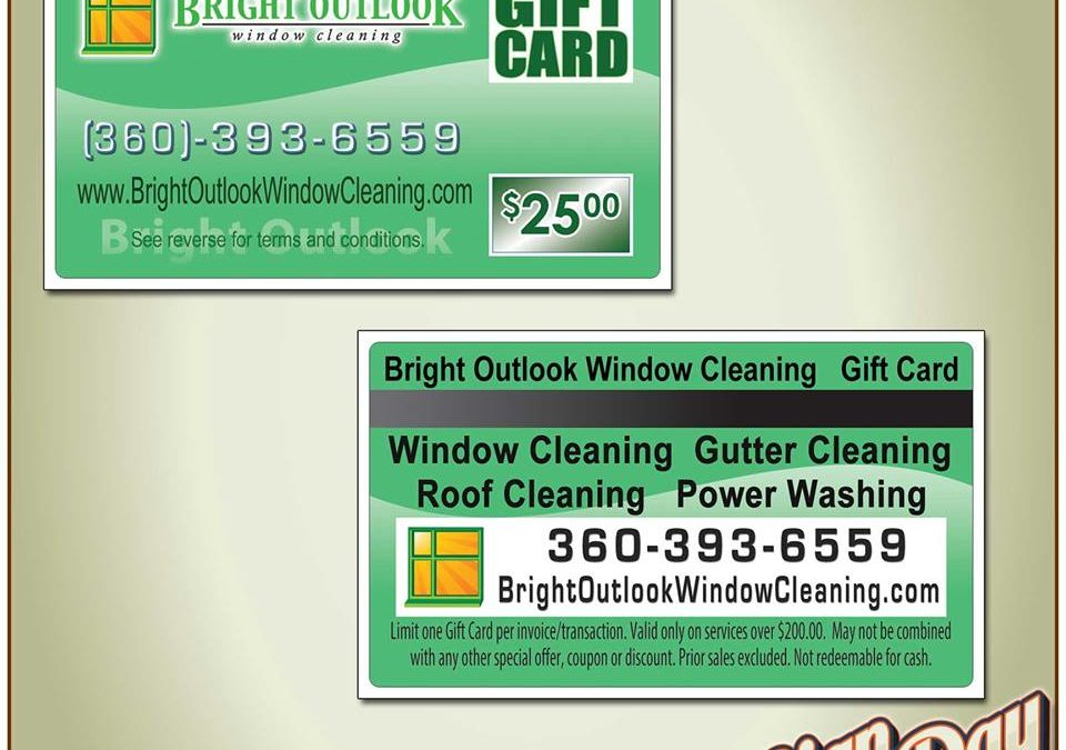 Bright Outlook gift card made by sign2day