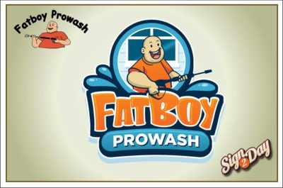 Fat Boy Power Wash logo by Sign2Day
